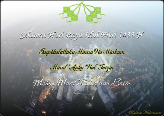 Selamat Hari Raya Idul Firti 1433 H